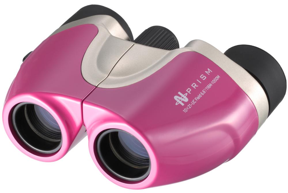 【ナシカ双眼鏡 10倍】鮮やかなボディーカラーのスタイリッシュモデル シーンに合わせて明るく鮮明に魅力ある大きさで楽しめる! 10×21 UC-ピンク