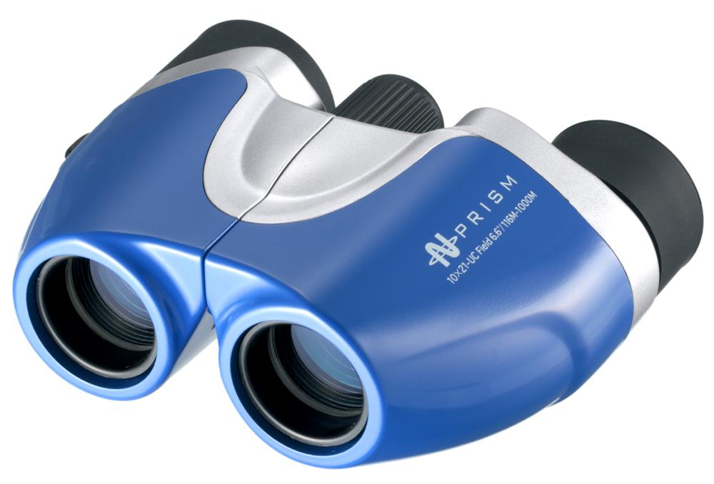【ナシカ双眼鏡 10倍】鮮やかなボディーカラーのスタイリッシュモデル シーンに合わせて明るく鮮明に魅力ある大きさで楽しめる! 10×21 UC-ブルー
