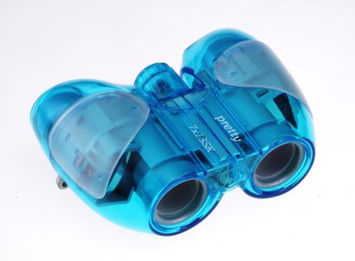 【ナシカ双眼鏡 7倍】ナシカ光学初のメカニカルなスケルトンタイプ 7×18 Pretty スケルトンⅡ(ブルー)